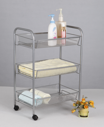Three-tiered Mesh Cart